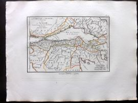 Barthelemy 1824 Antique Map. La Corinthie la Sicyonie la Phliasie. Greece
